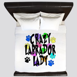 Crazy Labrador Lady King Duvet