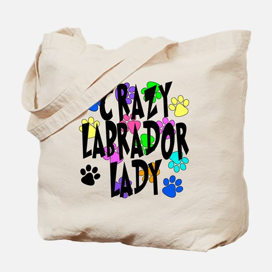 Crazy Labrador Lady Tote Bag