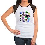 Crazy Shepherd Lady Women's Cap Sleeve T-Shirt