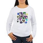 Crazy Shepherd Lady Women's Long Sleeve T-Shirt