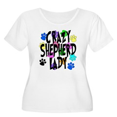 Crazy Shepherd Lady T-Shirt