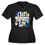 Crazy Shepherd Lady Women's Plus Size V-Neck Dark