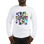 Crazy Shepherd Lady Long Sleeve T-Shirt