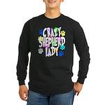 Crazy Shepherd Lady Long Sleeve Dark T-Shirt