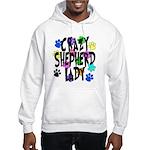 Crazy Shepherd Lady Hooded Sweatshirt