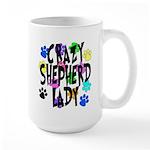 Crazy Shepherd Lady Large Mug