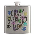 Crazy Shepherd Lady Flask