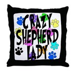 Crazy Shepherd Lady Throw Pillow