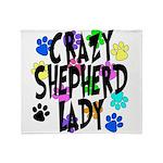 Crazy Shepherd Lady Throw Blanket