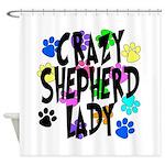 Crazy Shepherd Lady Shower Curtain