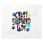 Crazy Shepherd Lady King Duvet