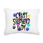 Crazy Shepherd Lady Rectangular Canvas Pillow