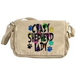 Crazy Shepherd Lady Messenger Bag