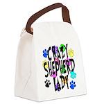 Crazy Shepherd Lady Canvas Lunch Bag