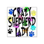 Crazy Shepherd Lady Square Sticker 3