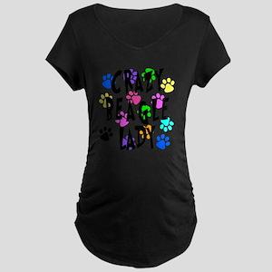 Crazy Beagle Lady Maternity Dark T-Shirt