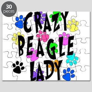 Crazy Beagle Lady Puzzle