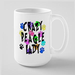 Crazy Beagle Lady Large Mug