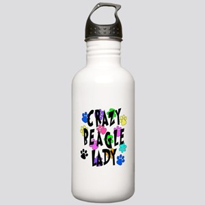 Crazy Beagle Lady Stainless Water Bottle 1.0L