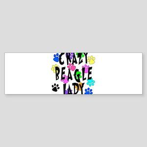 Crazy Beagle Lady Sticker (Bumper)
