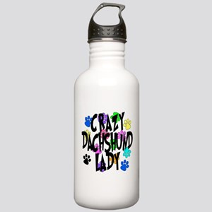 Crazy Dachshund Lady Stainless Water Bottle 1.0L