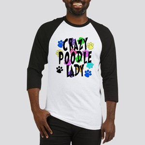 Crazy Poodle Lady Baseball Jersey