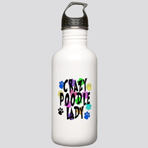 Crazy Poodle Lady Stainless Water Bottle 1.0L
