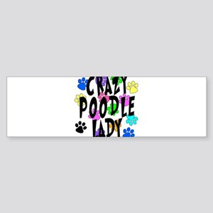 Crazy Poodle Lady Sticker (Bumper)