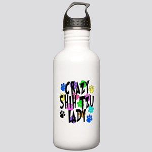 Crazy Shih Tzu Lady Stainless Water Bottle 1.0L