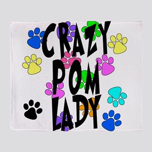 Crazy Pom Lady Throw Blanket