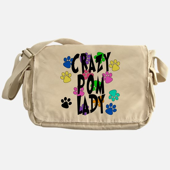 Crazy Pom Lady Messenger Bag