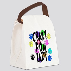 Crazy Pom Lady Canvas Lunch Bag