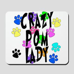 Crazy Pom Lady Mousepad