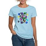 Crazy Dogue Lady Women's Light T-Shirt