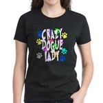 Crazy Dogue Lady Women's Dark T-Shirt
