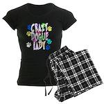 Crazy Dogue Lady Women's Dark Pajamas