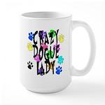 Crazy Dogue Lady Large Mug