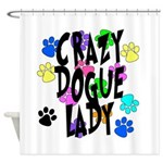 Crazy Dogue Lady Shower Curtain