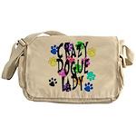Crazy Dogue Lady Messenger Bag