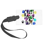 Crazy Dogue Lady Large Luggage Tag