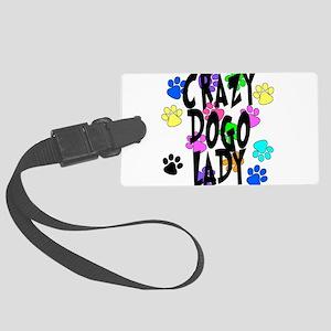 Crazy Dogo Lady Large Luggage Tag