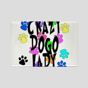 Crazy Dogo Lady Rectangle Magnet