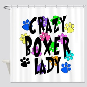 Crazy Boxer Lady Shower Curtain