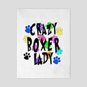 Crazy Boxer Lady Twin Duvet