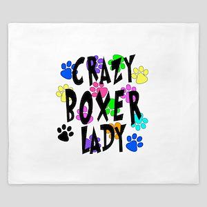 Crazy Boxer Lady King Duvet