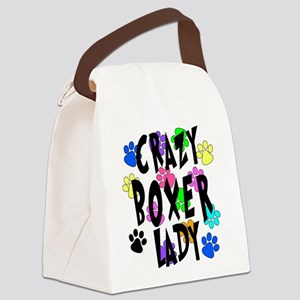 Crazy Boxer Lady Canvas Lunch Bag