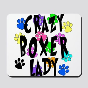 Crazy Boxer Lady Mousepad