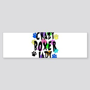 Crazy Boxer Lady Sticker (Bumper)
