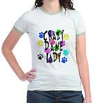Crazy Dane Lady Jr. Ringer T-Shirt