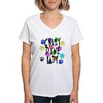 Crazy Dane Lady Women's V-Neck T-Shirt